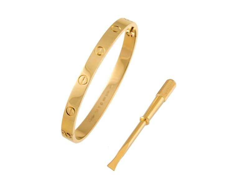 Cartier Love Bracelet Yellow Gold Size 17