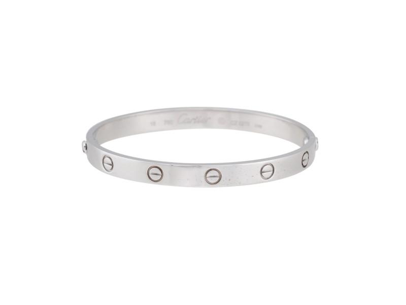 Cartier Love Bracelet 18K White Gold Love Size 18