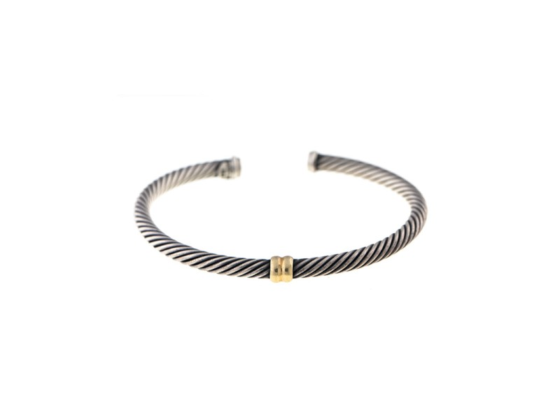 David Yurman Two Tone Cable Classics Bangle