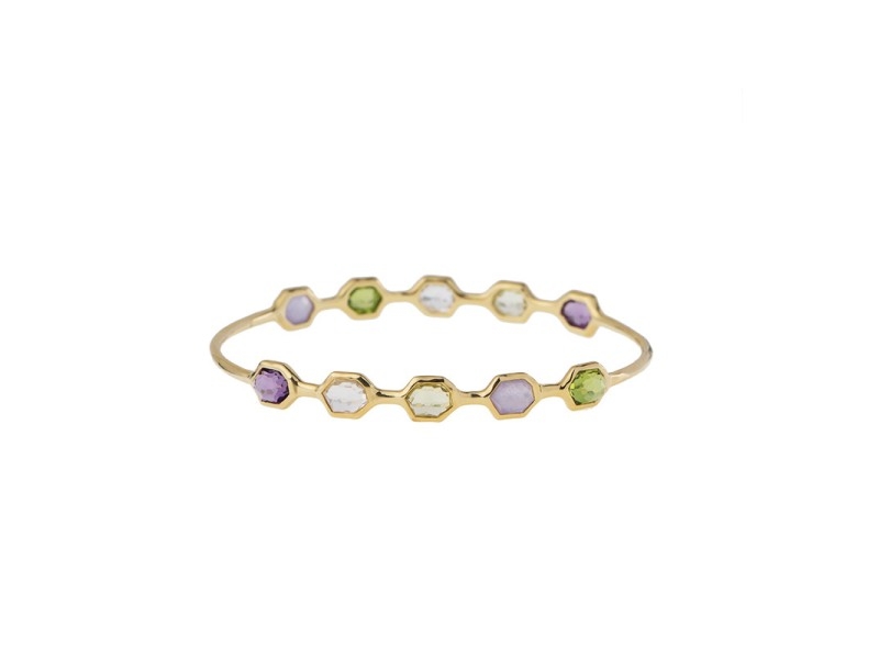 Ippolita 18k Yellow Gold Mixed Color Stone Bangle