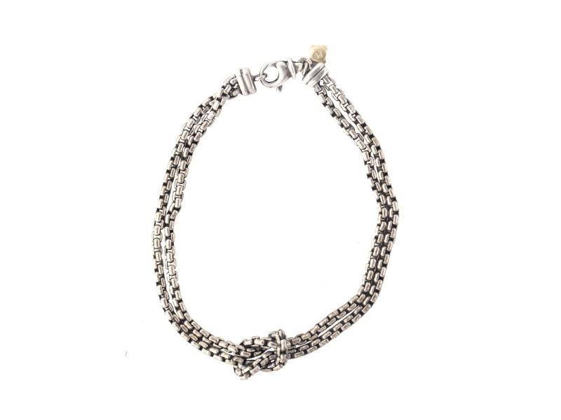 David Yurman Sterling Silver Knot Double Bracelet