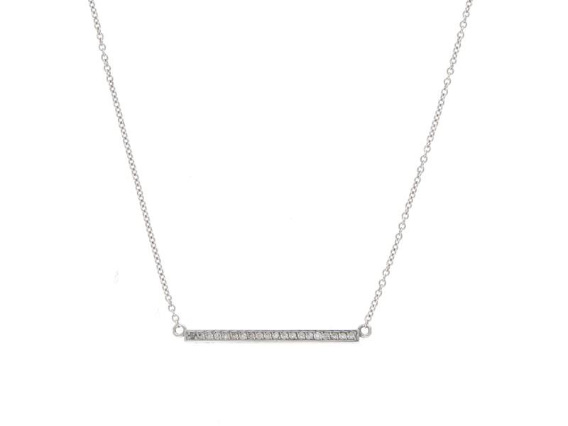 Jennifer Meyer 18K White Gold 0.16ctw Diamond Necklace