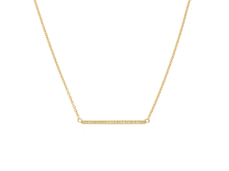 Jennifer Meyer 18K Yellow Gold 0.16ctw Diamond Stick Necklace