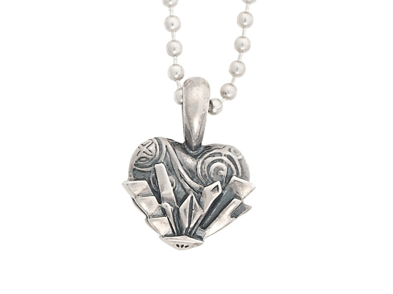 Lagos Sterling Silver Heart of Chicago Pendant Necklace