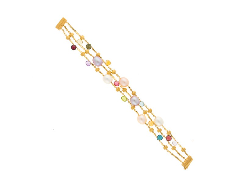 Marco Bicego 18K Yellow Gold with Paradise Mixed Gemstone Bracelet ...
