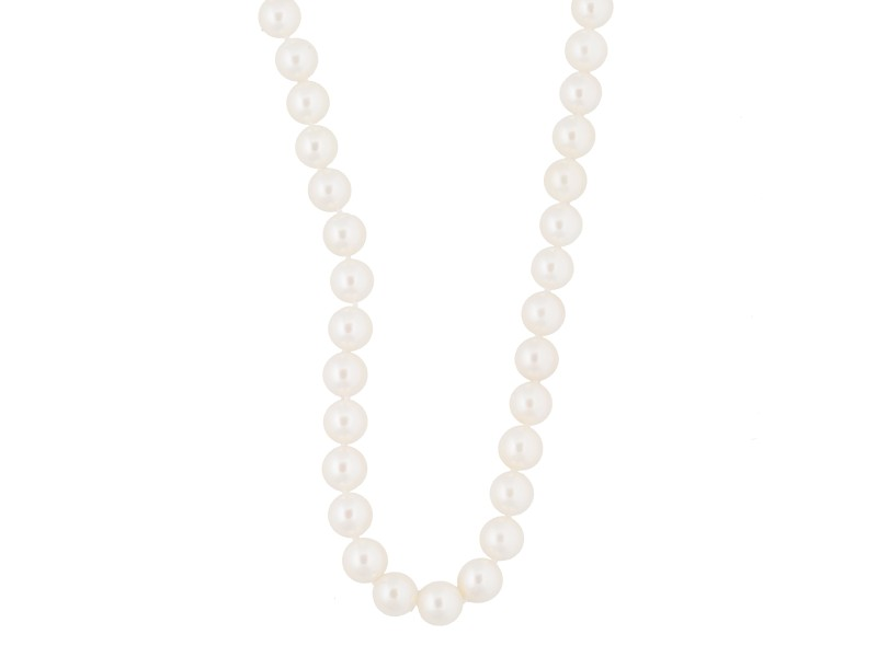 Mikimoto 18K White Gold with Pearl Choker Necklace