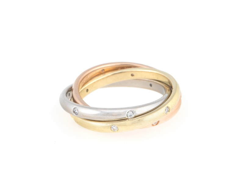Per Amore 18K Yellow Rose Gold and Platinum 0.25ct. Diamond Ring Size 8