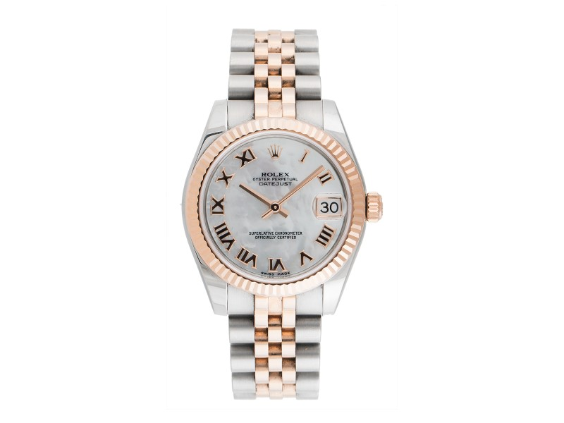 Rolex Oyster Perpetual Datejust 178271 MRJ Stainless Steel and 18k Rose Gold 31mm Womens Watch