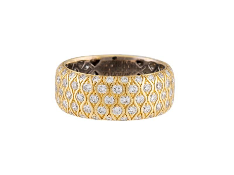 Simon G 18K Yellow Gold 2.05ctw Diamond Band Ring Size 6