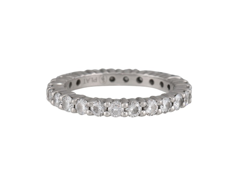 Sasha Primak Platinum Mutual Prong Diamond Eternity Band Ring Size 4.5