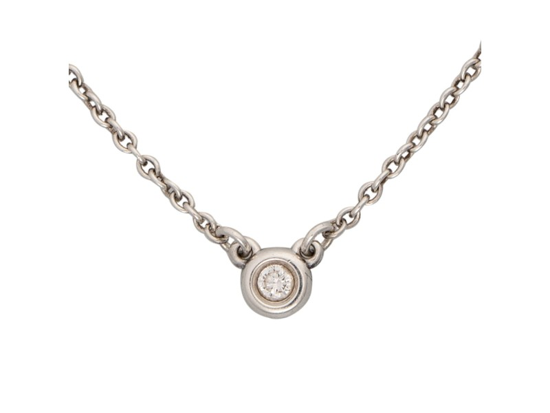 Tiffany & Co. 925 Sterling Silver 0.03ctw Diamond Necklace