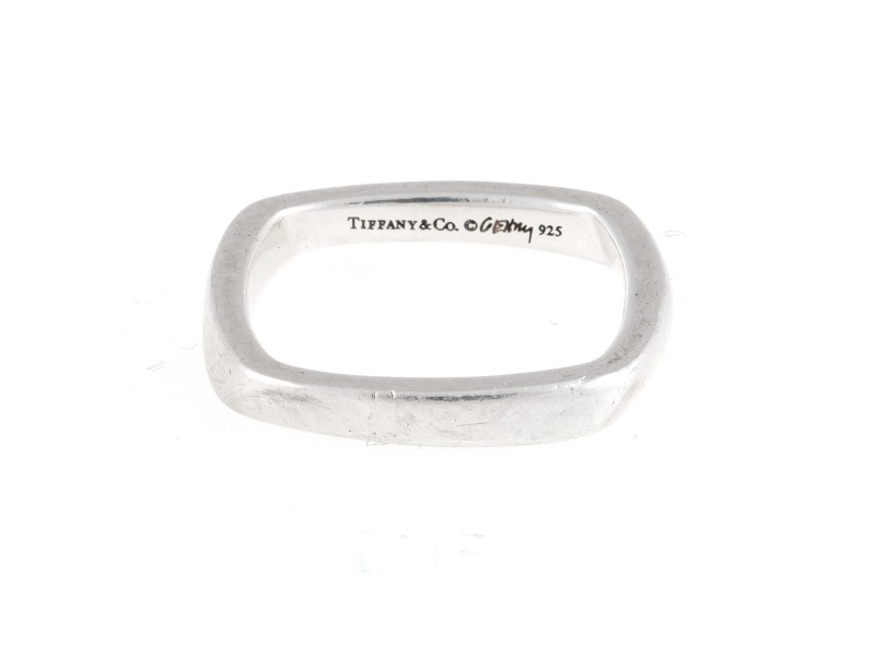Tiffany & Co. Frank Gehry Torque 0.925 Sterling Silver Ring Size 6.5