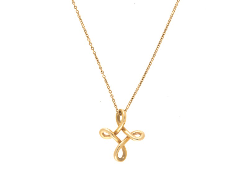 Tiffany co elsa peretti 18k yellow gold infinity cross pendant tiffany co elsa peretti 18k yellow gold infinity cross pendant necklace aloadofball Images