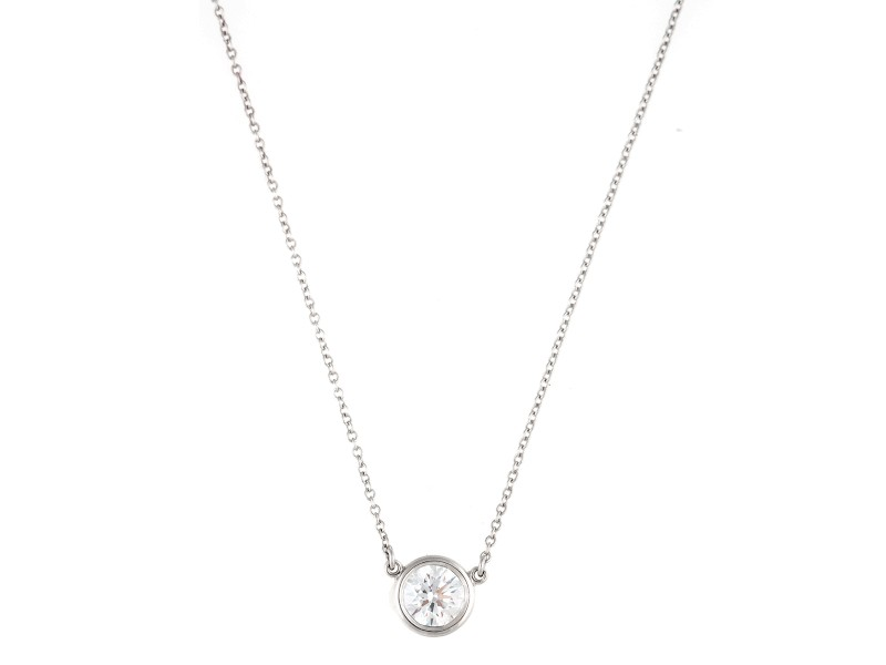Tiffany co platinum 075ct elsa perreti diamonds by the yard elsa perreti diamonds by the yard pendant necklace aloadofball Gallery