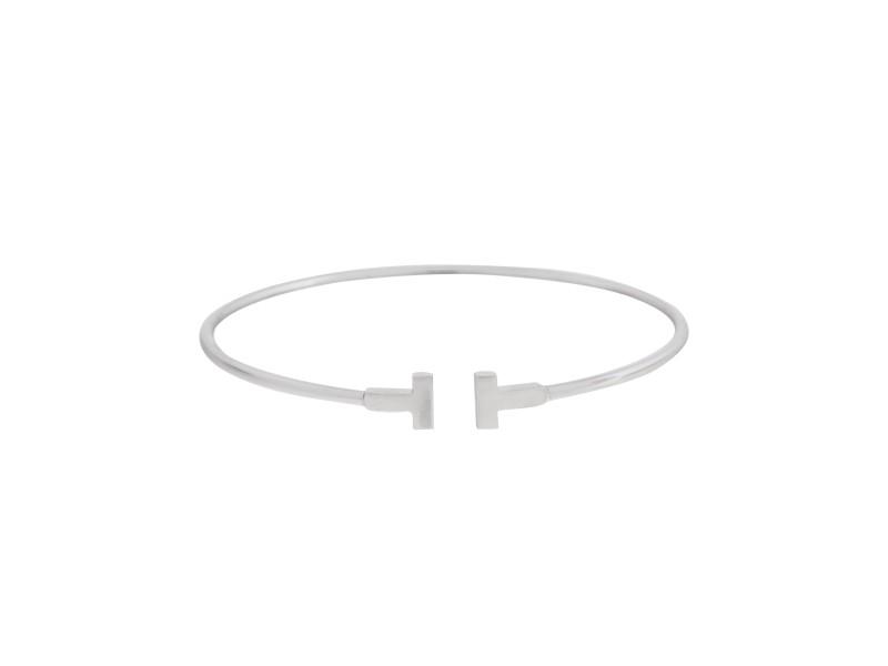 Tiffany & Co. T Wire 18k White Gold Bracelet