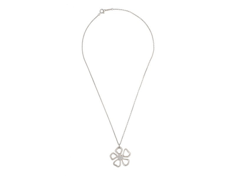 Tiffany & Co. Sterling Silver Daisy Necklace