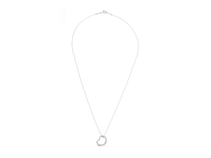 Tiffany & Co. Elsa Peretti 950 Platinum Open Heart Necklace