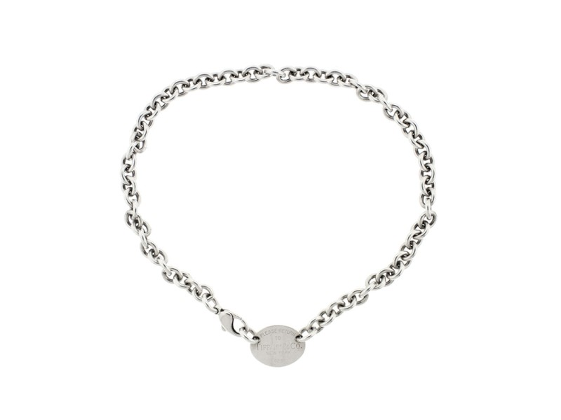 Tiffany & Co. Return to Tiffany Oval Tag Necklace