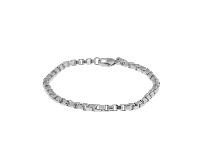 Tiffany & Co. Venetian Sterling Silver Link Box Bracelet