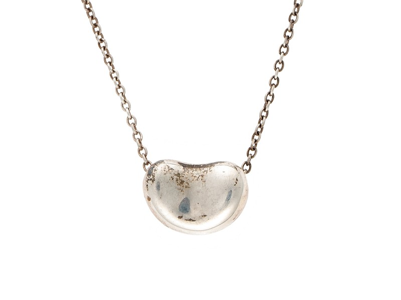 Tiffany & Co. Sterling Silver Bean Necklace