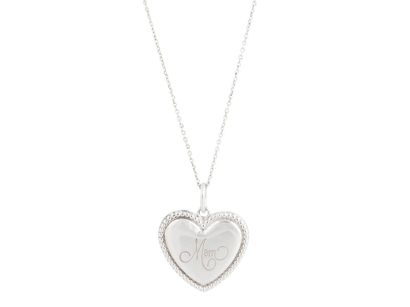 Tiffany co sterling silver mom heart pendant necklace tiffany tiffany co sterling silver mom heart pendant necklace aloadofball Gallery