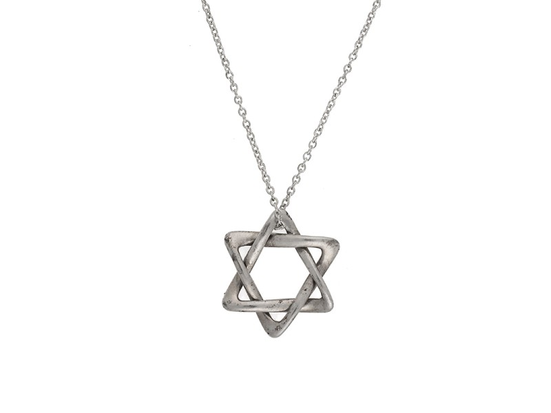 Tiffany & Co. Sterling Silver Star of David Pendant Necklace