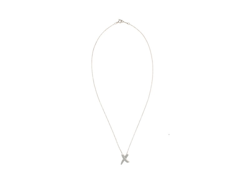 Tiffany & Co. Paloma Picasso Sterling Silver X Necklace