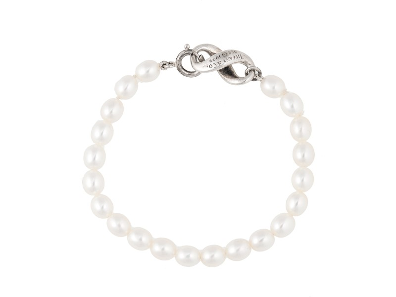 Tiffany Co Infinity Pearl Bracelet