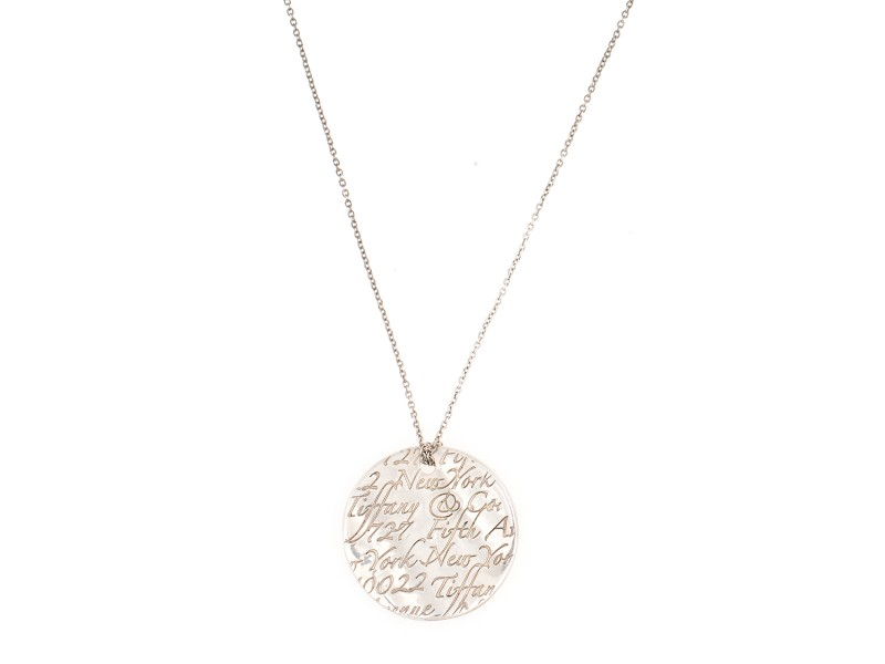 Tiffany co notes 5th ave new york disc sterling silver pendant tiffany co notes 5th ave new york disc sterling silver pendant necklace audiocablefo