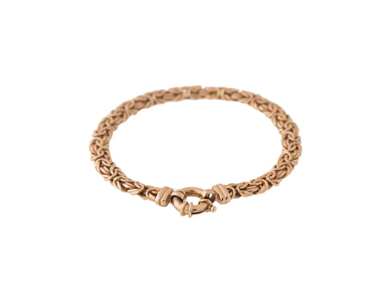 14k Rose Gold Ladies Woven Bracelet
