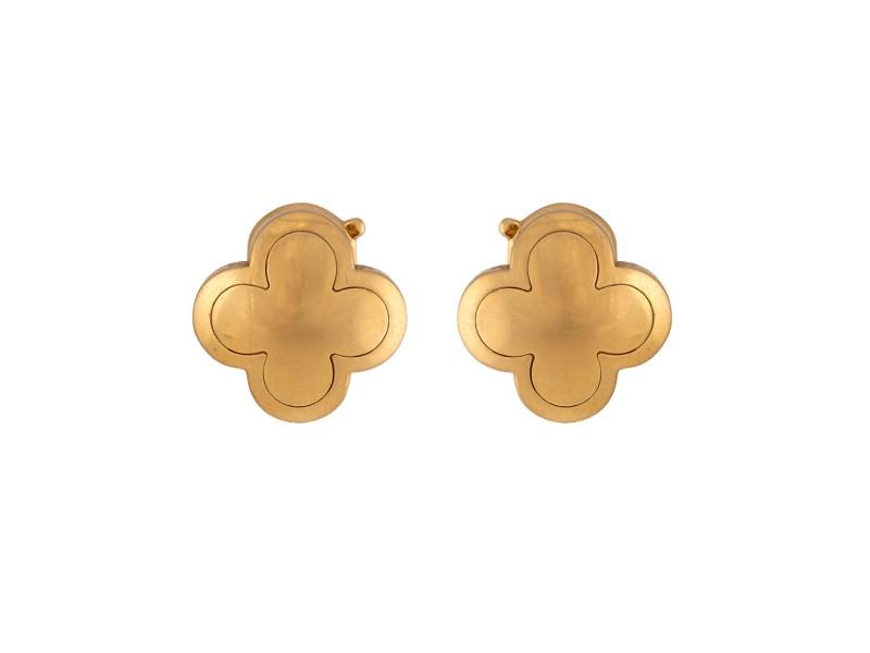 Van Cleef & Arpels Alhambra 18K Yellow Gold Earrings