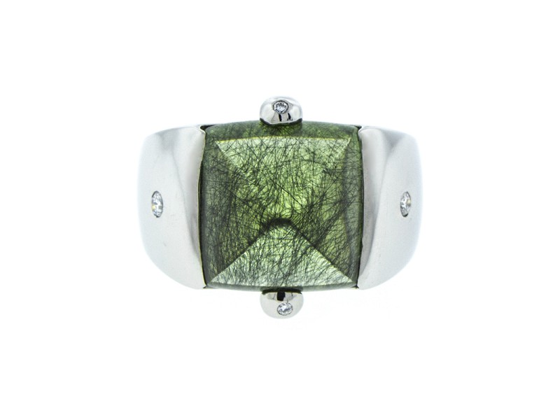 Platinum Peridot Ring
