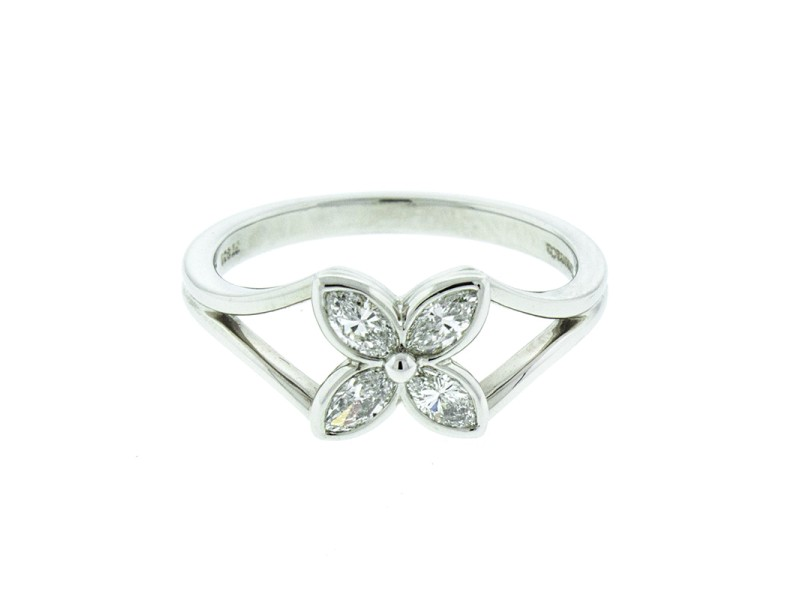 Tiffany & Co. Platinum and Diamond Flower Ring