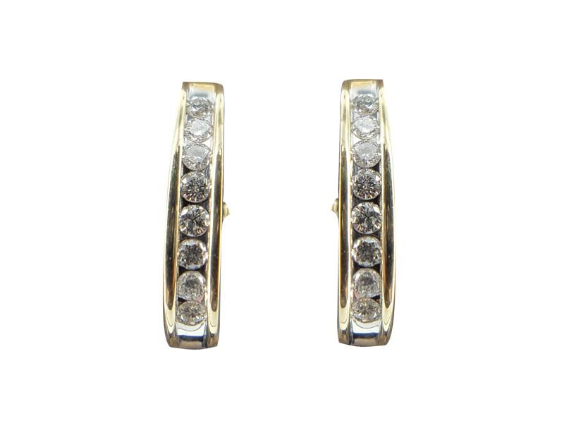 14K Yellow Gold & Diamond Earrings