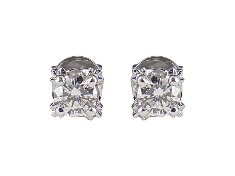 18K White Gold Round 0.40ct. Diamond Earrings
