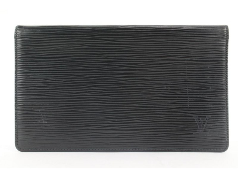 Louis Vuitton Black Epi Leather Long Bifold Wallet 275lvs216