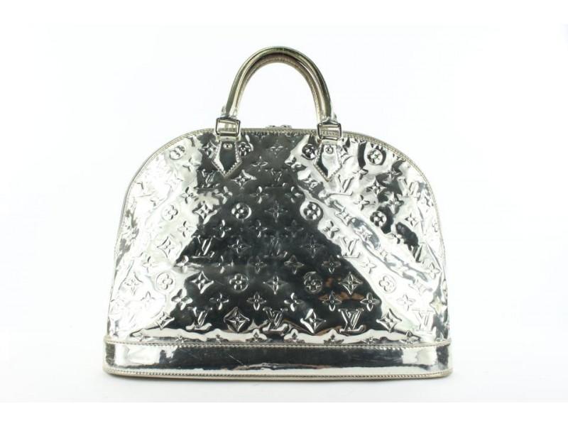 Louis Vuitton Gold Monogram Miroir Alma GM Bowler Bag