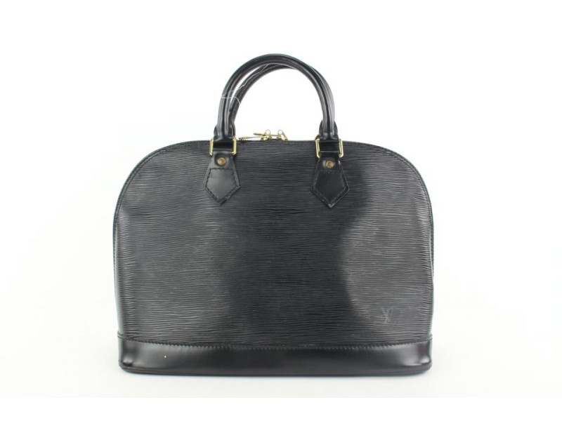 Louis Vuitton Black Epi Leather Noir Alma PM Bowler Bag 310lvs517