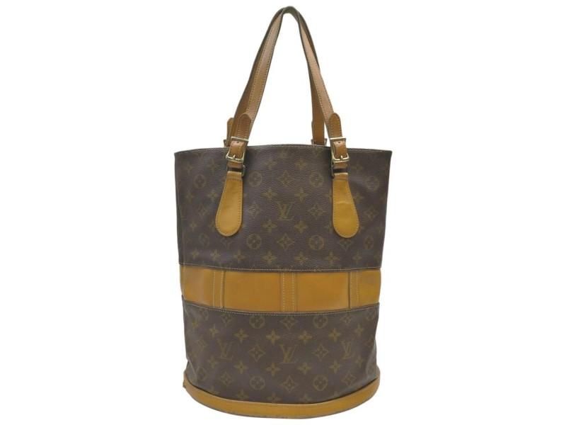 Louis Vuitton Monogram Marais Bucket GM Tote Bag 863061