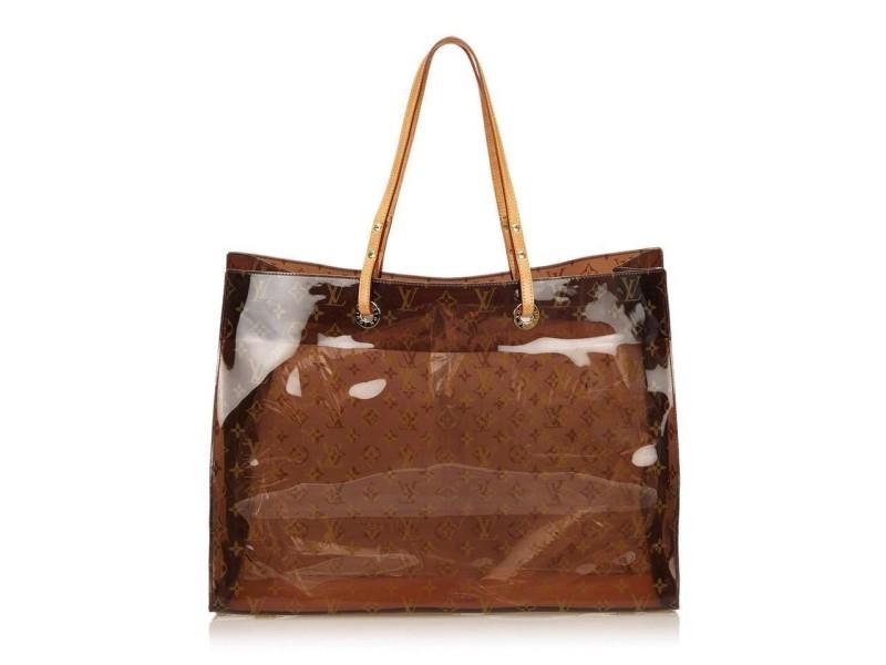 Louis Vuitton Clear Monogram Ambre Cabas Cruise GM Tote Bag 661lvs317