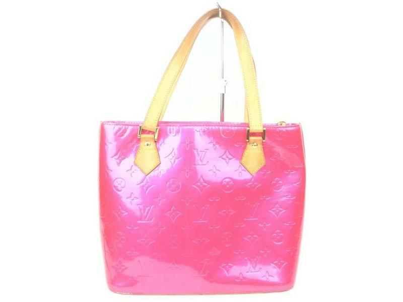 Louis Vuitton Fuchsia Pink Monoram Vernis Houston Zip Tote Bag