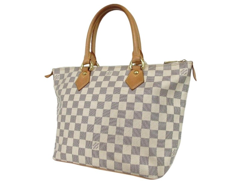 Louis Vuitton Damier Azur Saleya PM Zip Tote Bag 860L12