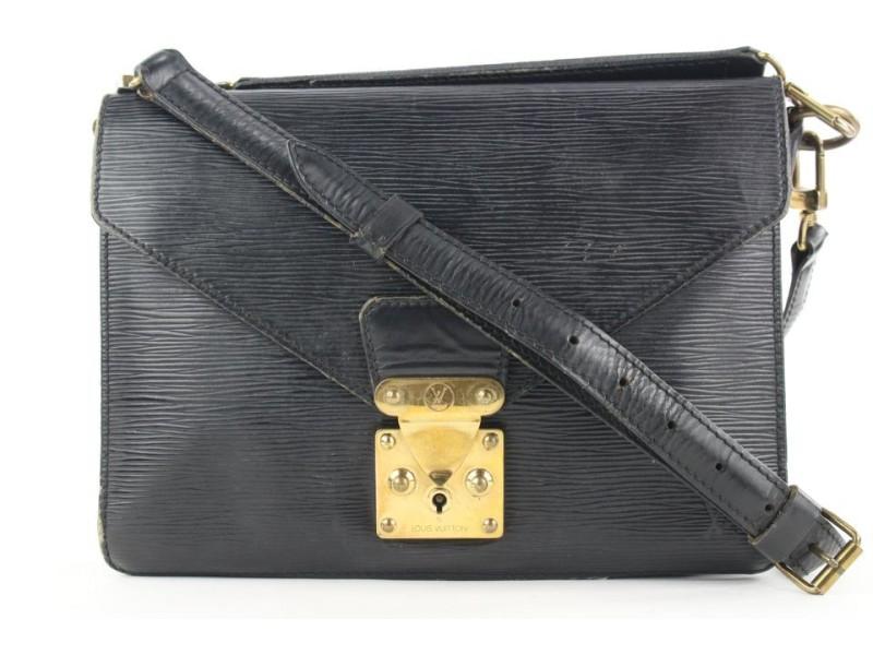 Louis Vuitton Black Epi Leather Biface 2way Bag 32lvs121
