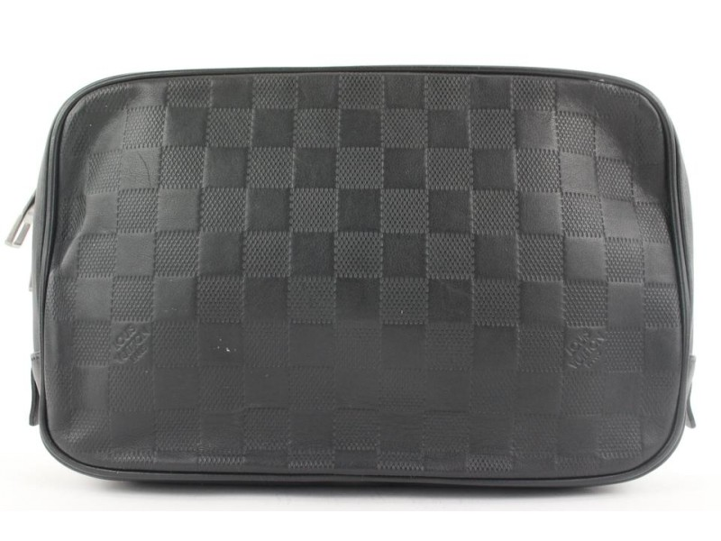 Louis Vuitton Black Damier Infini Leather Trousse Toilette Onyx Toiltery 174lvs28