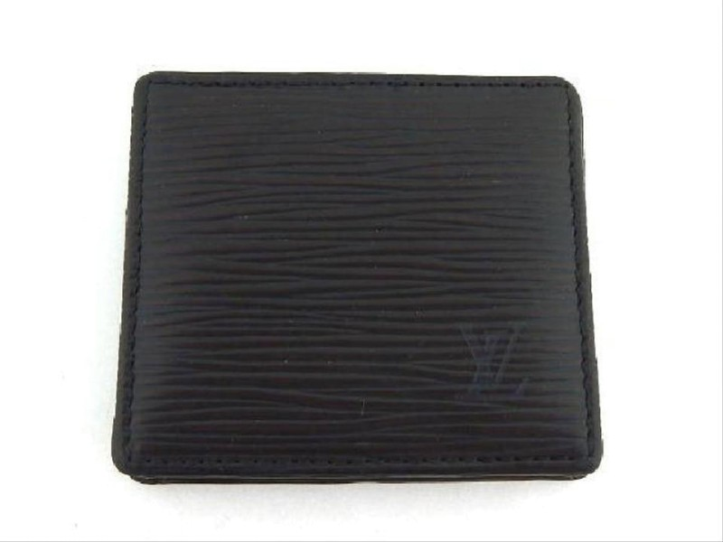 Louis Vuitton Epi Noir Mini Boite Box Black Leather 207378 Coin Change