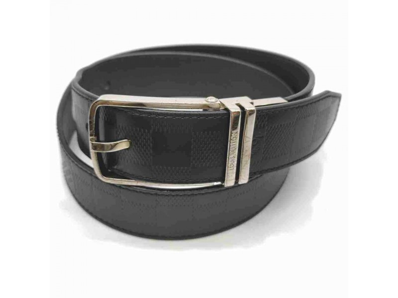 Louis Vuitton Black Damier Infini Leath Belt Ceinture Boston Reversible 85/34 860636