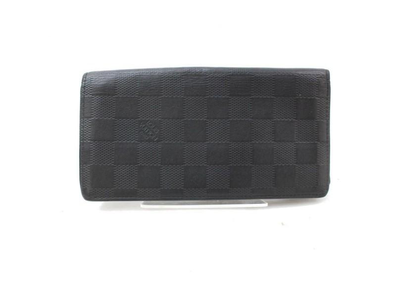 Louis Vuitton Damier Infini Portefeuille Brazza Long Flap Bifold Wallet I871371