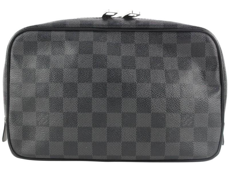 Louis Vuitton Black Damier Graphite Trousse Toilette GM 204lvs55