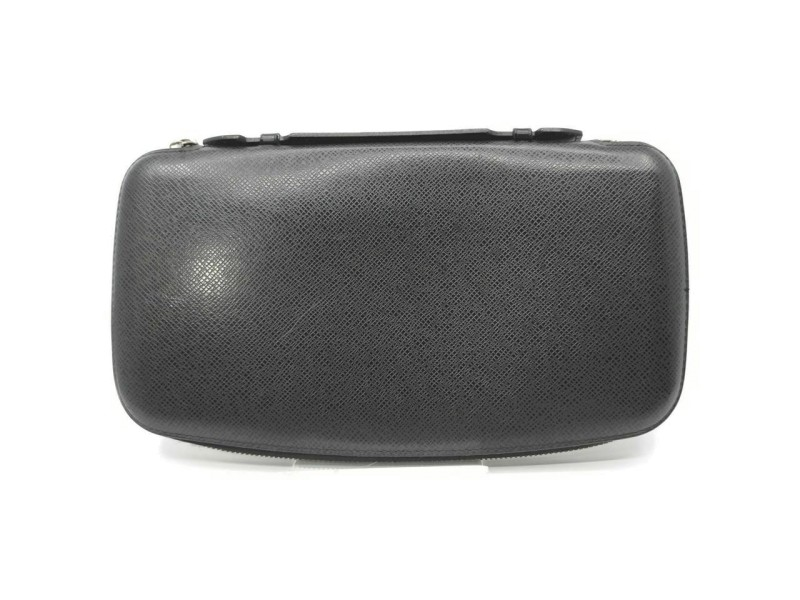 Louis Vuitton Black Taiga Leather Zippy Organizer XL Travel Wallet Clutch 861485