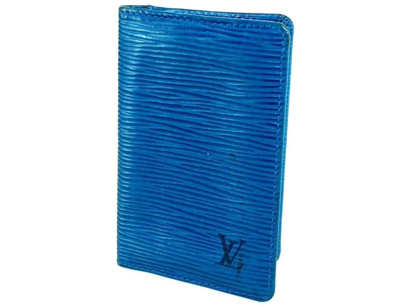 Louis Vuitton Blue Epi Toledo Card Case Holder 15LVA615